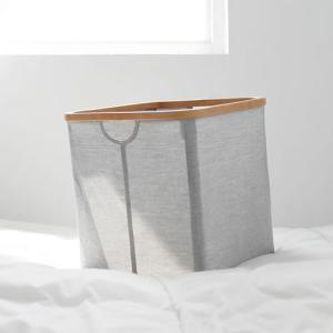 GudeeLife 収納 バスケット スクエア型 収納ボックス 折りたたみ おしゃれ ストレージボックス 収納ケース かご 正方形 自立 竹 布|favoritestyle