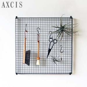 AXCIS アクシス アイアンハンギングボード スクエアL メッシュパネル 黒 ブラック パネル 収納 平置き 壁掛け 鉄 ネジ付 HS2456|favoritestyle