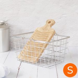 【取扱終了】とみおかクリーニング 洗濯かご オリジナルワイヤーバスケット S バスケット ランドリーバスケット 収納 洗濯 ギフト 日用品 ランドリー|favoritestyle