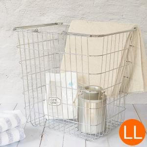 とみおかクリーニング 洗濯かご オリジナルワイヤーバスケット LL バスケット ランドリーバスケット 収納 洗濯 ギフト 日用品 ランドリー|favoritestyle