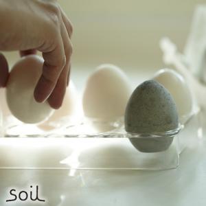 soil ソイル ドライングエッグ DRYING EGG 1個(単品) 珪藻土 × 炭  調湿脱臭剤 脱臭剤 冷蔵庫 タマゴ型|favoritestyle
