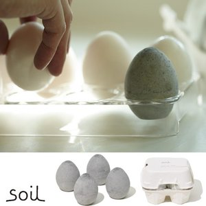 soil ドライングエッグ ソイル 珪藻土 DRYING EGG 4個セット 箱入り 珪藻土と炭の調湿脱臭剤|favoritestyle