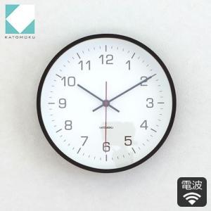 加藤木工 カトモク 時計 壁掛け時計 木製  Plywood wall clock 4 電波時計 スイープムーブメント ブラウン 日本製 KM-44BRC|favoritestyle