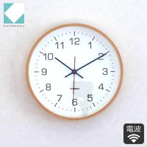 壁掛け時計 電波時計 木製 日本製 加藤木工 KATOMOKU カトモク 連続秒針 シンプル plywood wall clock 4 曲木時計 KM-44NRC|favoritestyle