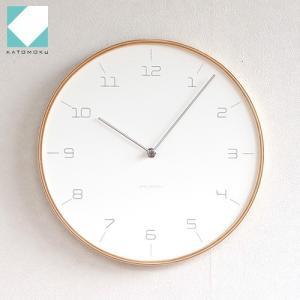 壁掛け時計 木製 日本製 加藤木工 KATOMOKU カトモク plywood wall clock 7 SLIM CLOCK 曲木時計 KM-71N アナログ|favoritestyle