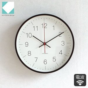 KATOMOKU plywood wall clock 9 ブラウン