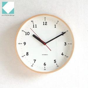 壁掛け時計 はじめての時計 木製 日本製 加藤木工 KATOMOKU カトモク 連続秒針 plywood wall clock 10 ナチュラル KM-76N アナログ|favoritestyle