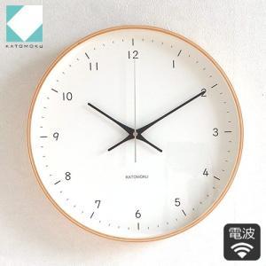 壁掛け時計 電波時計 木製 日本製 加藤木工 KATOMOKU カトモク 連続秒針 plywood wall clock 12 ナチュラル 曲木時計 KM-80NRC|favoritestyle