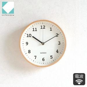 壁掛け時計 電波時計 木製 日本製 加藤木工 KATOMOKU カトモク 連続秒針 plywood wall clock 13 ナチュラル 曲木時計 KM-84NRC|favoritestyle