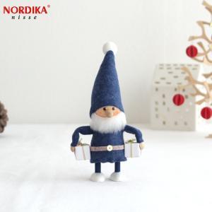 ノルディカニッセ 欲張りな青い服のサンタ NORDIKA nisse クリスマス クリスマス雑貨 木製人形 人形 北欧 北欧雑貨 北欧インテリア NRD120089|favoritestyle