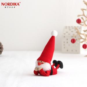 ノルディカニッセ 寝転がるサンタ フェルトシリーズ 赤 NORDIKA nisse 2020 クリスマス 雑貨 木製 人形 北欧 NRD120648|favoritestyle