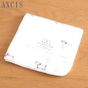 ガーゼハンカチ 白ヤギ 2重ガーゼ 綿100% 日本製 26×26cm ハンドタオルサイズ AXCIS  ベビー やわらかガーゼハンカチ|favoritestyle