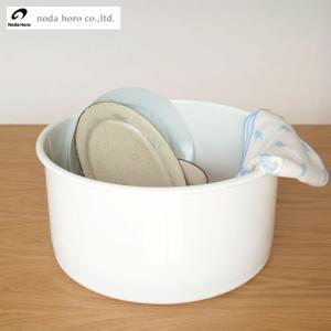 野田琺瑯 洗い桶 丸型 ノダホーロー 桶 丸形洗い桶 日本製 WA-P キッチンツール|favoritestyle