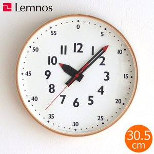 知育時計 掛け時計 レムノス LEMNOS ふんぷんくろっく M fun pun clock 木製 知育クロック 壁掛け時計 ステップムーブメント YD14-08M|favoritestyle