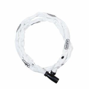 自転車 鍵  ABUS 1500/110 WHITE アブス チェーンロック ロック ピストバイク ...