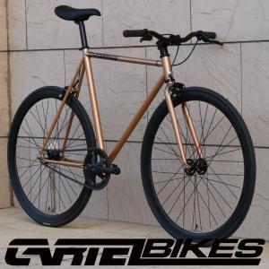 ピストバイク 完成車 CARTEL BIKES AVENUE LO GOLD PISTBIKE カーテルバイク アベニュー ロー ライザーバー カスタム ゴールド 自転車 ロードバイク 限定カラー|favus