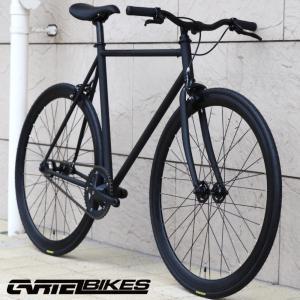 ピストバイク 完成車 CARTEL BIKES AVENUE MAT BLACK PISTBIKE カーテルバイク アベニュー マットブラック ライザーバーカスタム 自転車 ロードバイク ブランド|favus