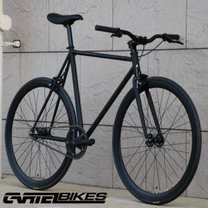 ピストバイク 完成車 CARTEL BIKES AVENUE LO MAT BLACK PISTBIKE カーテルバイク アベニュー マットブラック ライザーバーカスタム 自転車 ロードバイク favus