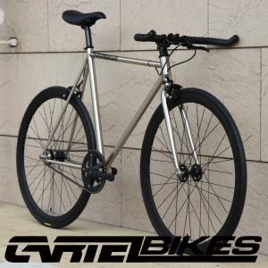 ピストバイク 完成車 CARTEL BIKES AVENUE LO CHROME PISTBIKE カーテルバイク アベニュー クローム 銀 シルバー 自転車 ロードバイク ブランド|favus