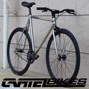 ピストバイク 完成車 CARTEL BIKES AVENUE LO CHROME PISTBIKE カーテルバイク アベニュー ロー クローム ライザーバーカスタム 自転車 ロードバイク ブランド favus