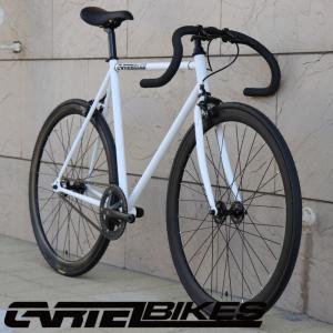 ピストバイク 完成車 CARTEL BIKES AVENUE MAT WHITE PISTBIKE カーテルバイク アベニュー マットホワイト 自転車 ロードバイク ブランド|favus