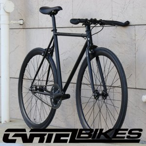 ピストバイク 完成車 CARTEL BIKES AVENUE LO MAT BLACK PISTBIKE カーテルバイク アベニュー ロー マットブラック 自転車 ロードバイク ブランド|favus