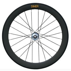 ピストバイク ホイール 60mm CLINCHER CARBON WHEEL REAR / カーボン クリンチャー ホイール リア 自転車 カスタム|favus