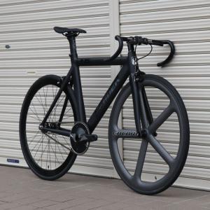 ピストバイク カスタム完成車 LEADER BIKES リーダーバイク 735TR MAT BLACK ENCORE CHARCOAL アンコール エアロフレーム カーボン アルミ 軽量 カスタム|favus