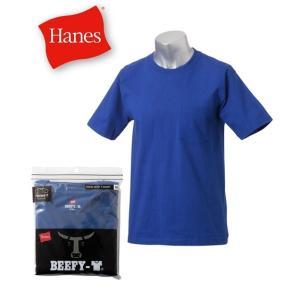 ヘインズ Tシャツ メンズ SS〜LL ビーフィー(BEEFY-T)半袖クルーポケット付きTシャツ ...