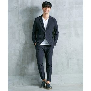 セットアップスーツ メンズ M-4L ストレッチ素材セットアップスーツ(ジャケット+パンツ) 大きいサイズ メンズ 上下セットでお買い得 送料無料|faz-store