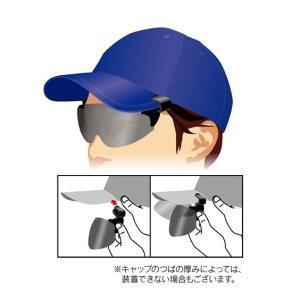 キャップに装着できるサングラス 帽子にサクサクバイザーグラス 【CP01】 角度調整も出来ます ニッセン|faz-store