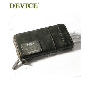 デバイス マッド ラウンド長財布 メンズ ビンテージ感のあるメタルロゴプレートがクール!な長財布 サイフ 財布 ニッセン DEVICE MAD 送料無料|faz-store