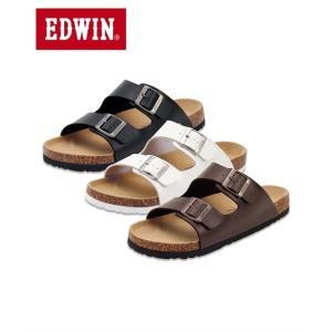 エドウイン フットベッドサンダル メンズ 25cm-28cm 長時間歩いても疲れにくい! 靴 コンフ...