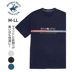 Tシャツ メンズ 半袖 ビバリーヒルズポロクラブ プリント半袖クルーネックTシャツ M/L/LL メ...