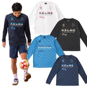 ◆商品説明◆ KELME/ケルメの18秋冬アイテム ロングTシャツ エンボス加工+ラバープリントのド...