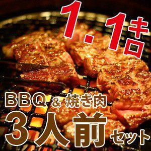 BBQ バーベキュー セット 焼肉 焼き肉 3人前 bbq...