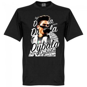 """(10%OFF)RE-TAKE ディバラ ユベントス """"ディバラマスク"""" Tシャツ(ブラック)(サッ..."""