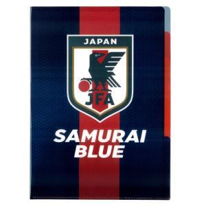 日本代表のオフィシャルA4クリアファイル。  5つのポケットに分かれているので、書類の整理がしやすい...