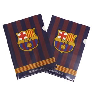 FCバルセロナのオフィシャルクリアファイル2枚セット。  お仕事や学校などのでもバルサグッズを使いた...