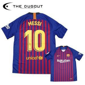 (予約:1週間待ち)メッシ 直筆サイン入り FCバルセロナ 18-19 ホーム ユニフォーム(THE DUGOUT)(TDMB18191)