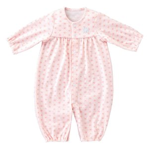 赤ちゃんの城 ツーウェイドレス 麻の葉 ピンク ベビー服 新生児 日本製 春夏秋用 fchallenge