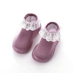 AOIREMON 可愛いベビーシューズ ファーストシューズ トレーニングシューズ 赤ちゃん靴下 出産祝い 滑り止め 柔らか 通気性 fchallenge