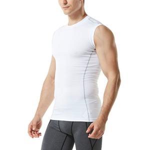 (テスラ)TESLA スリーブレス ラウンドネック スポーツシャツ UVカット・吸汗速乾 コンプレッ...