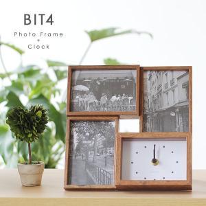BIT4・ビット4 フォトフレーム&クロック(magnet シンプル ナチュラル 木製風 ウッド L版)|fci