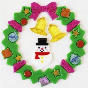 グミデコ バッグS スノーマンリース(クリスマスリース 雪だるま スノーマン)|fci