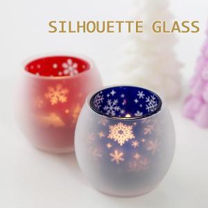 シルエットグラス(クリスマス カメヤマキャンドル)