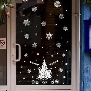 グラフィックアート for クリスマス(インテリアステッカー クリスマス 雪 結晶) fci