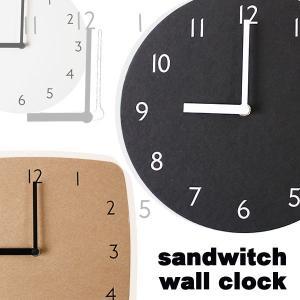 サンドウィッチ ウォールクロック(ペーパークラフト 軽量 掛け時計 シンプル) fci