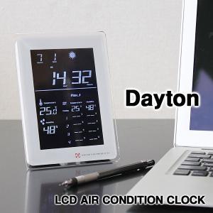 LCD AIR CONDITION CLOCK Dayton・デイトン 電波時計(天気予測 アラーム 室温 湿度表示 壁掛け時計 置き時計)|fci