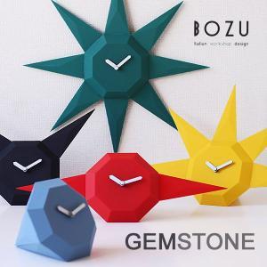 BOZU GEM STONE ジェムストーンクロック(スタイリッシュ シンプル デザイナー 放射状 トライアングル 三角 幾何学)|fci
